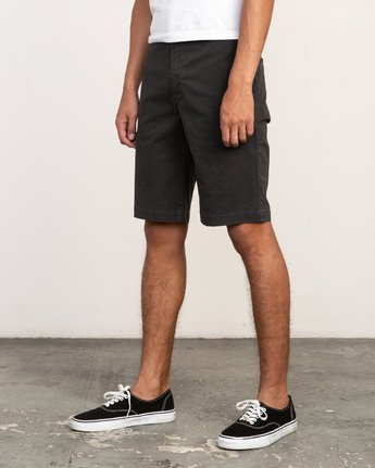 "2 DAGGERS 19"" CHINO SHORT Black M202TRDC RVCA"