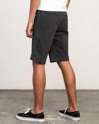 "3 DAGGERS 19"" CHINO SHORT Black M202TRDC RVCA"