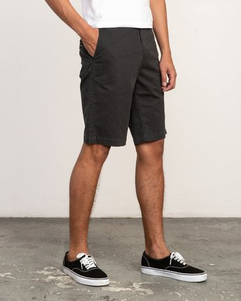 "6 DAGGERS 19"" CHINO SHORT Black M202TRDC RVCA"