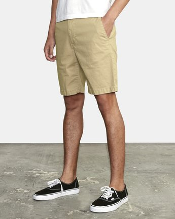"3 DAGGERS 19"" CHINO SHORT Purple M202TRDC RVCA"