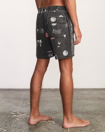 "5 Escape Elastic 17"" Short Black M203URES RVCA"