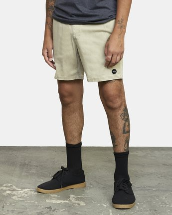 "2 ESCAPE 17"" ELASTIC SHORT Beige M2041RES RVCA"