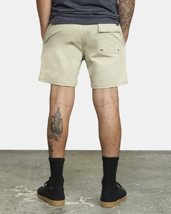 "3 ESCAPE 17"" ELASTIC SHORT Beige M2041RES RVCA"