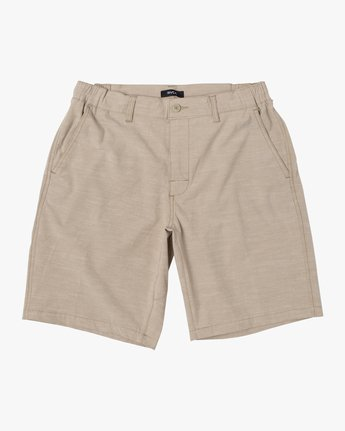 12 ALL TIME SOLID COASTAL HYBRID SHORT Beige M206QRCO RVCA