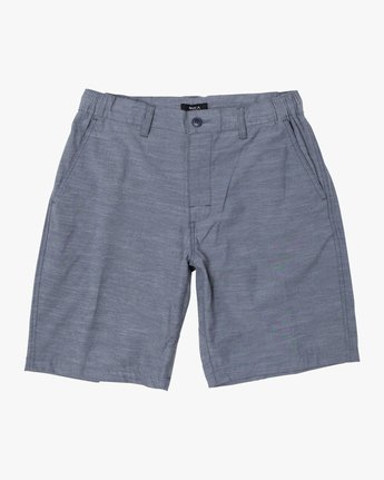 13 ALL TIME SOLID COASTAL HYBRID SHORT Blue M206QRCO RVCA