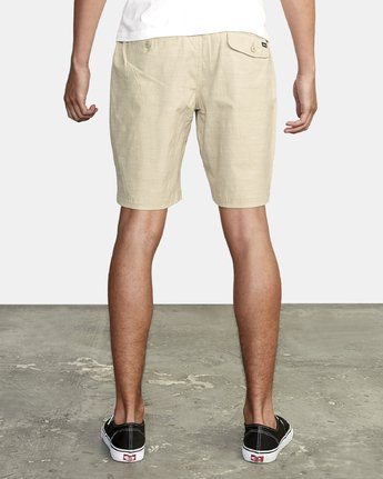 9 ALL TIME SOLID COASTAL HYBRID SHORT Beige M206QRCO RVCA