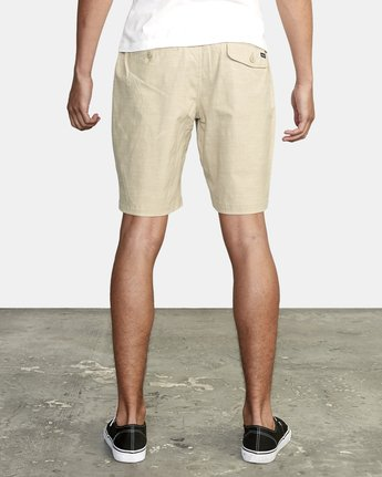 3 ALL TIME SOLID COASTAL HYBRID SHORT Beige M206QRCO RVCA