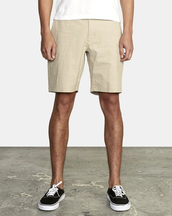 1 ALL TIME SOLID COASTAL HYBRID SHORT Beige M206QRCO RVCA