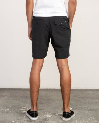 4 All Time Coastal Hybrid Short Black M206QRCO RVCA