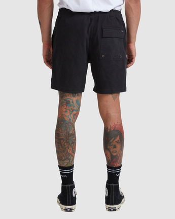 "9 ESCAPE 17"" ELASTIC SHORT Black M2073REE RVCA"