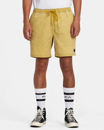 "1 ESCAPE ELASTIC SHORT 17"" Brown M2073REE RVCA"