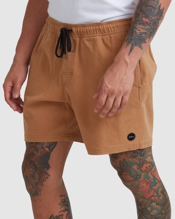 "6 ESCAPE ELASTIC SHORT 17"" Brown M2073REE RVCA"