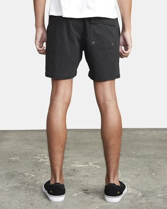 "3 ESCAPE 17"" ELASTIC SHORT Black M2073REE RVCA"