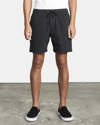 "2 ESCAPE ELASTIC SHORT 17"" Black M2073REE RVCA"