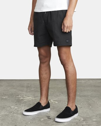 "4 ESCAPE ELASTIC SHORT 17"" Black M2073REE RVCA"