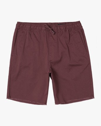 "0 week-end 19"" Elastic Short Red M207TRWE RVCA"