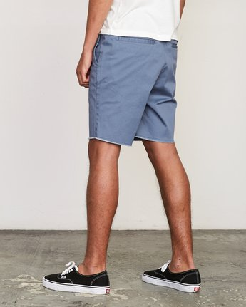 "3 Weekend Elastic 19"" Short Blue M207TRWE RVCA"