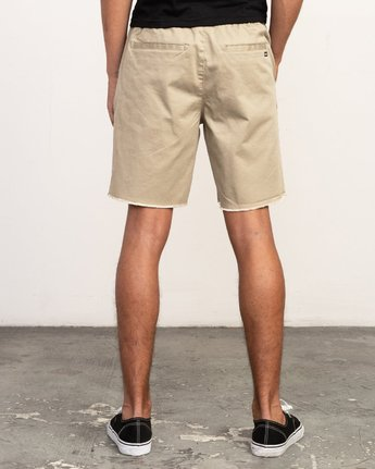 "4 Weekend 19"" Elastic Short Grey M207TRWE RVCA"
