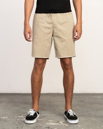 "1 Weekend 19"" Elastic Short Grey M207TRWE RVCA"
