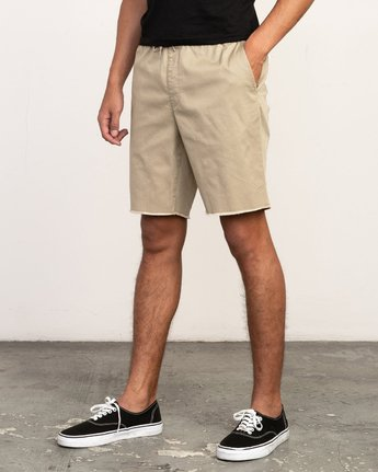 "2 Weekend 19"" Elastic Short Grey M207TRWE RVCA"