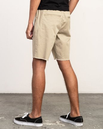 "3 Weekend 19"" Elastic Short Grey M207TRWE RVCA"