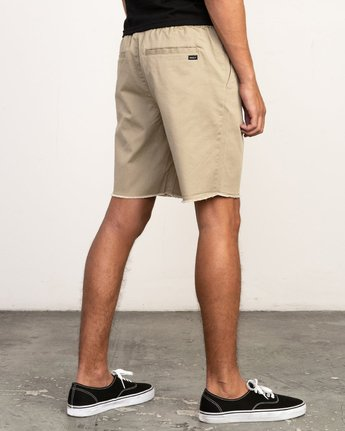 "5 Weekend 19"" Elastic Short Grey M207TRWE RVCA"