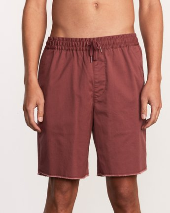 "7 Weekend 19"" Elastic Short Purple M207TRWE RVCA"