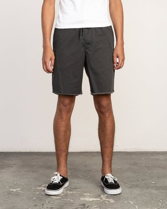"1 Weekend 19"" Elastic Short Black M207TRWE RVCA"