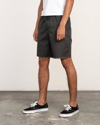 "2 Weekend 19"" Elastic Short Black M207TRWE RVCA"
