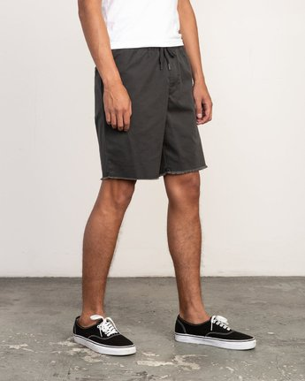"6 Weekend 19"" Elastic Short Black M207TRWE RVCA"
