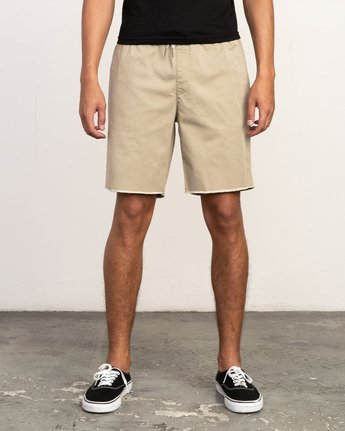"1 Weekend 19"" Elastic Short White M207TRWE RVCA"
