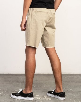 "3 Weekend 19"" Elastic Short White M207TRWE RVCA"