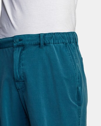 "7 ALL TIME RINSED COASTAL HYBRID SHORT 19"" Blue M211TRCR RVCA"