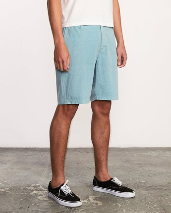 6 All Time Rinsed Coastal Hybrid Short Blue M211TRCR RVCA