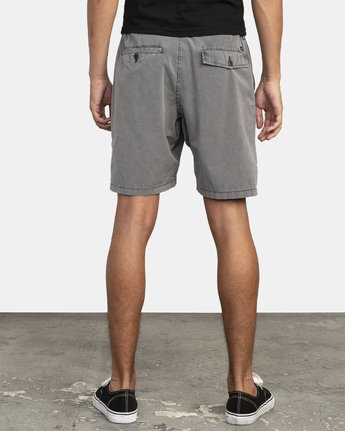 4 All Time Rinsed Coastal Hybrid Short Black M211TRCR RVCA