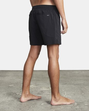 "4 FLUX WALKSHORT 16"" Black M2123RFW RVCA"