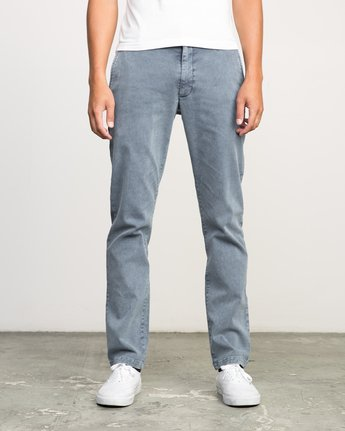 0 Daggers Rinsed Chino Pant Blue M301NRDR RVCA