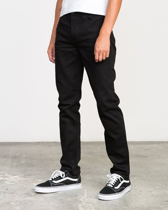 1 Hexed Denim Jeans Black M301NRHE RVCA