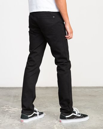 4 Hexed Denim Jeans Black M301NRHE RVCA