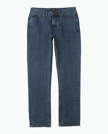 6 Daggers Slim-Straight Jeans Blue M302QRDA RVCA