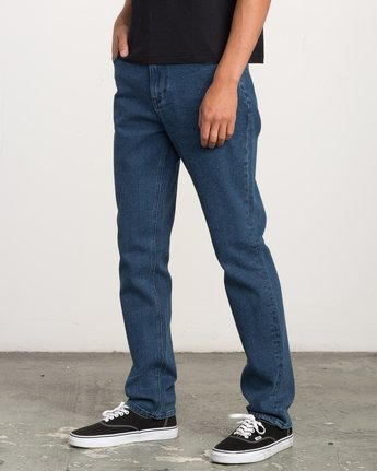 1 Daggers Slim-Straight Jeans Blue M302QRDA RVCA