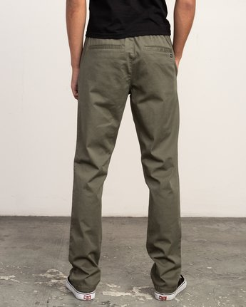 1 WeekEnd Elastic straight fit Pant Green M302TRWE RVCA