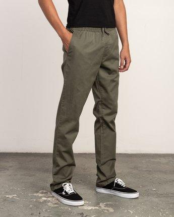 5 WeekEnd Elastic straight fit Pant Green M302TRWE RVCA