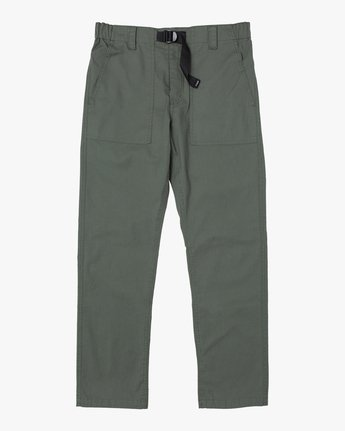 7 ALL TIME SURPLUS STRAIGHT FIT PANT Green M3033RSU RVCA