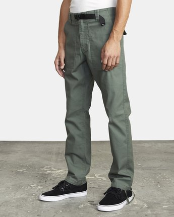 3 ALL TIME SURPLUS STRAIGHT FIT PANT Green M3033RSU RVCA