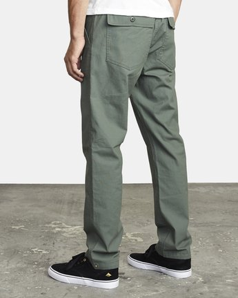 4 ALL TIME SURPLUS STRAIGHT FIT PANT Green M3033RSU RVCA