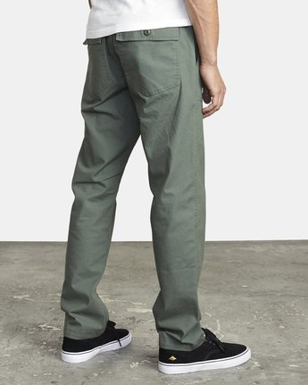6 ALL TIME SURPLUS STRAIGHT FIT PANT Green M3033RSU RVCA