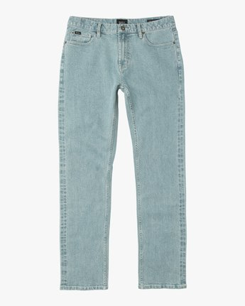 6 Stay RVCA Denim Jeans Blue M303NRST RVCA