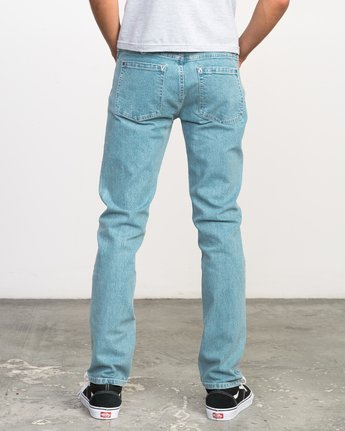 3 Stay RVCA Denim Jeans Blue M303NRST RVCA
