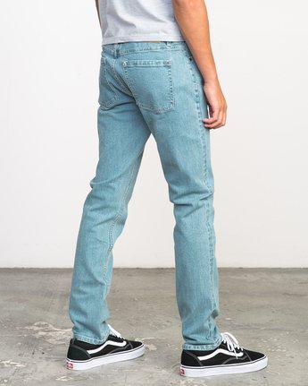 4 Stay RVCA Denim Jeans Blue M303NRST RVCA
